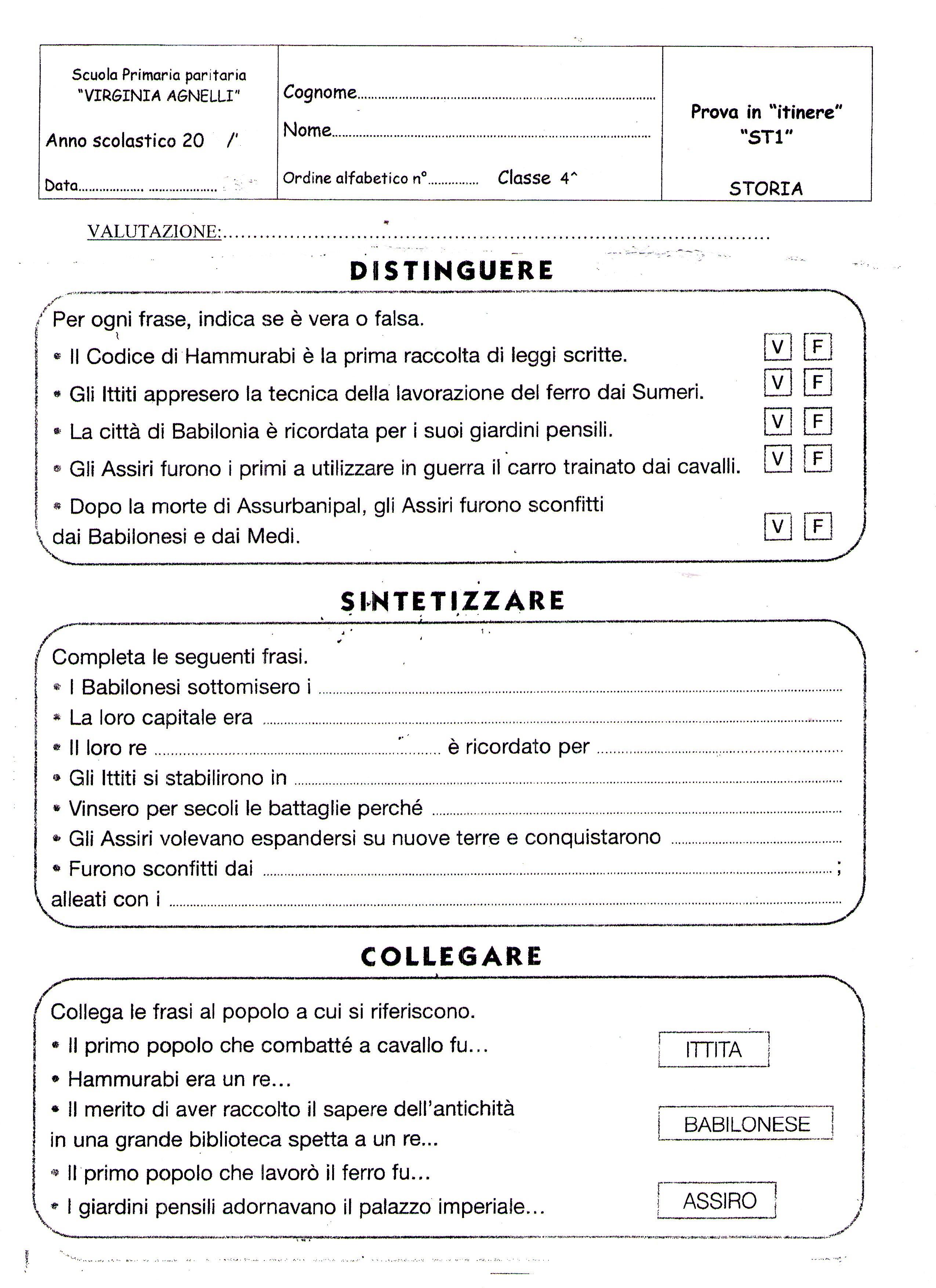 Famoso Quarta classe - STORIA | MAESTRA MG MAESTRA MG EE51
