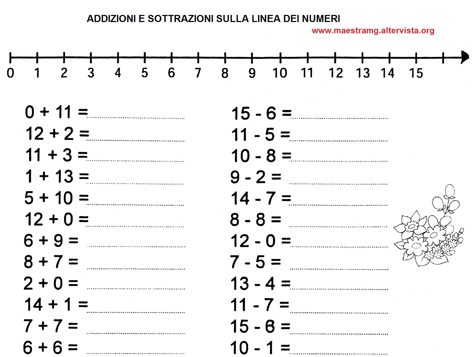 Prima Classe Matematica Maestra Mg