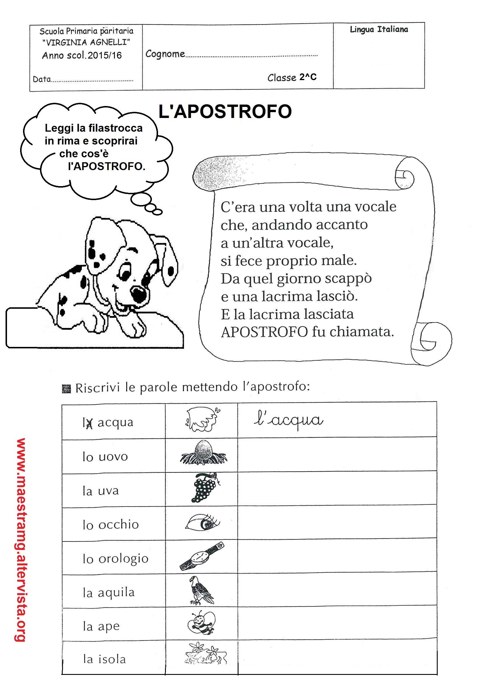 Favoloso Seconda classe - LINGUA ITALIANA | MAESTRA MG MAESTRA MG NQ17