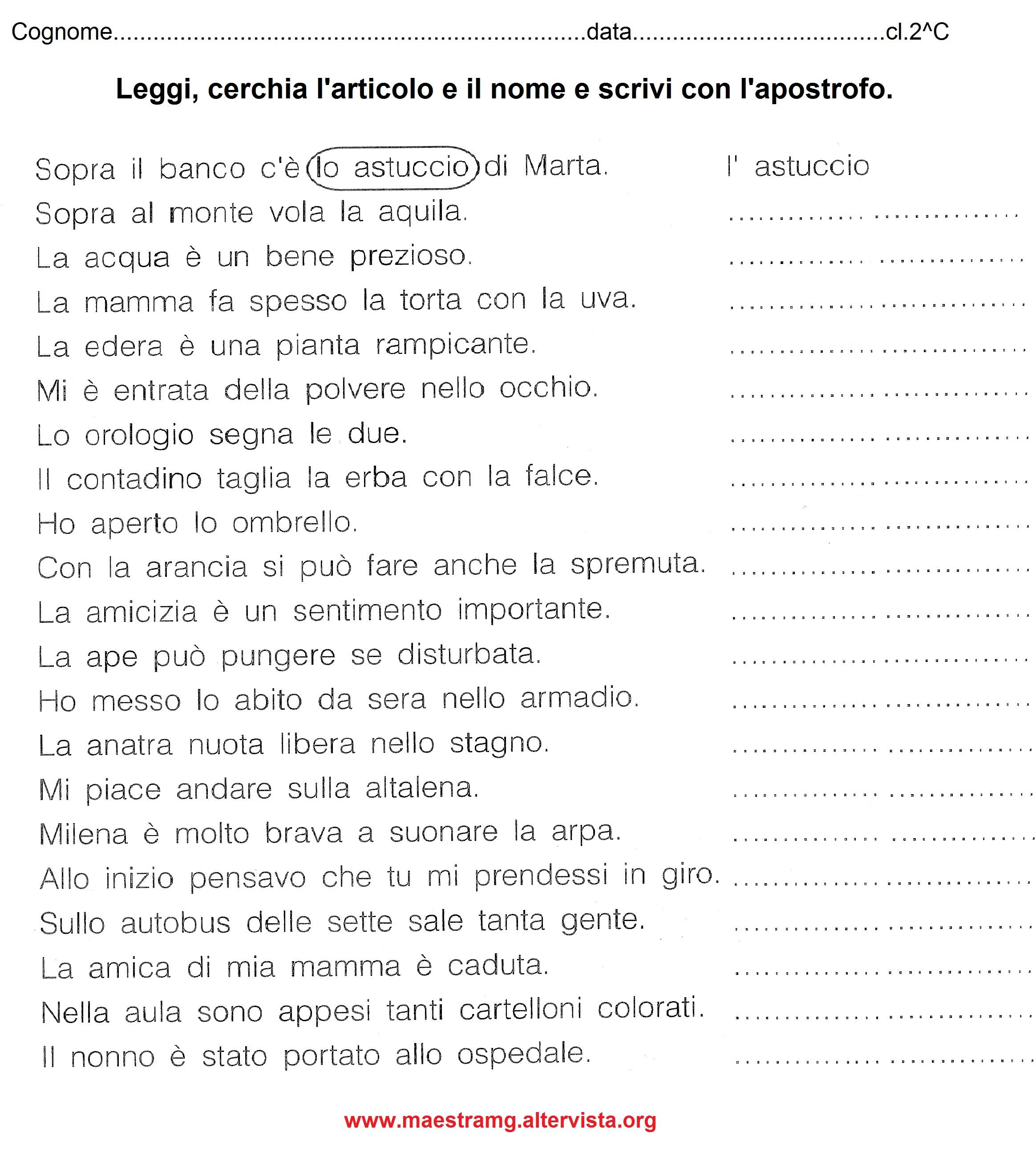 Popolare Seconda classe - LINGUA ITALIANA | MAESTRA MG MAESTRA MG SM49