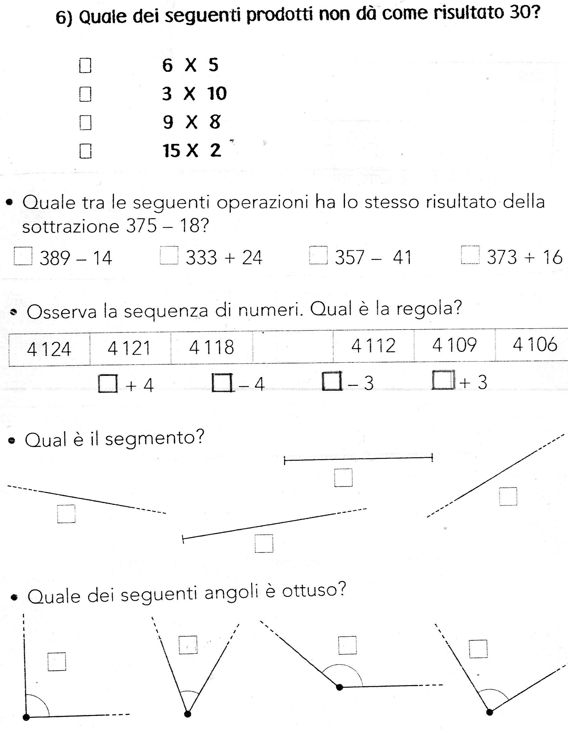 Molto Esercizi Di Matematica Classe Prima Elementare EL85 » Regardsdefemmes TD47