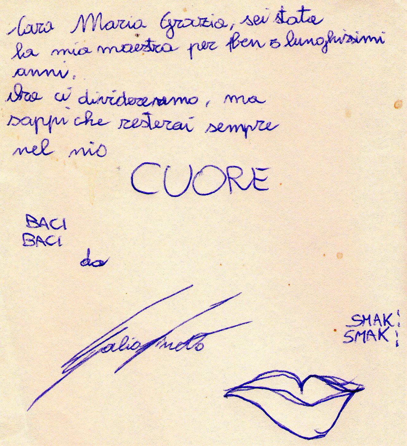 lettera di Fabio Finetto