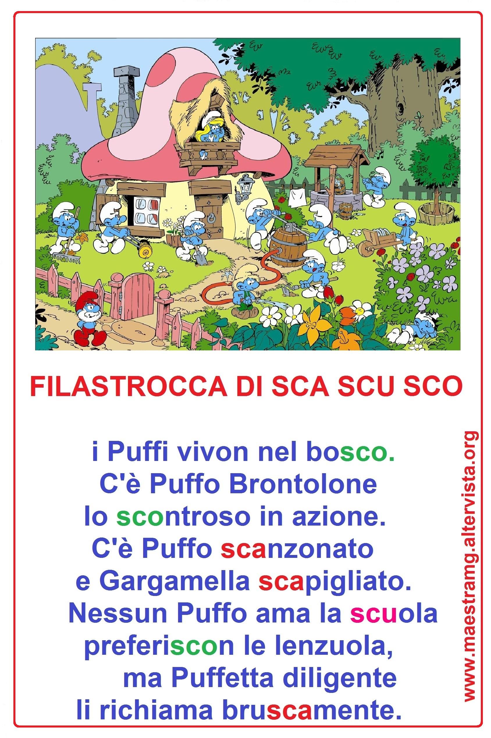 filastrocca SCA SCO SCU -colori