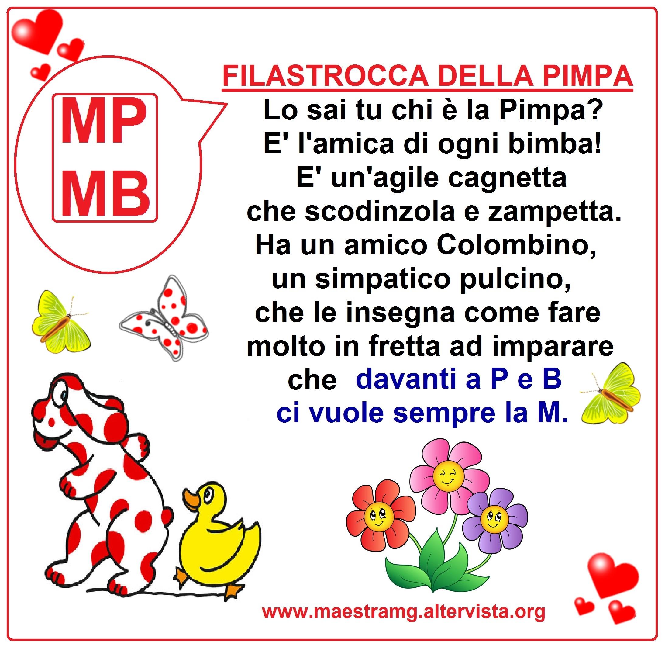 Filastrocche maestra mg for Parole con mp per bambini