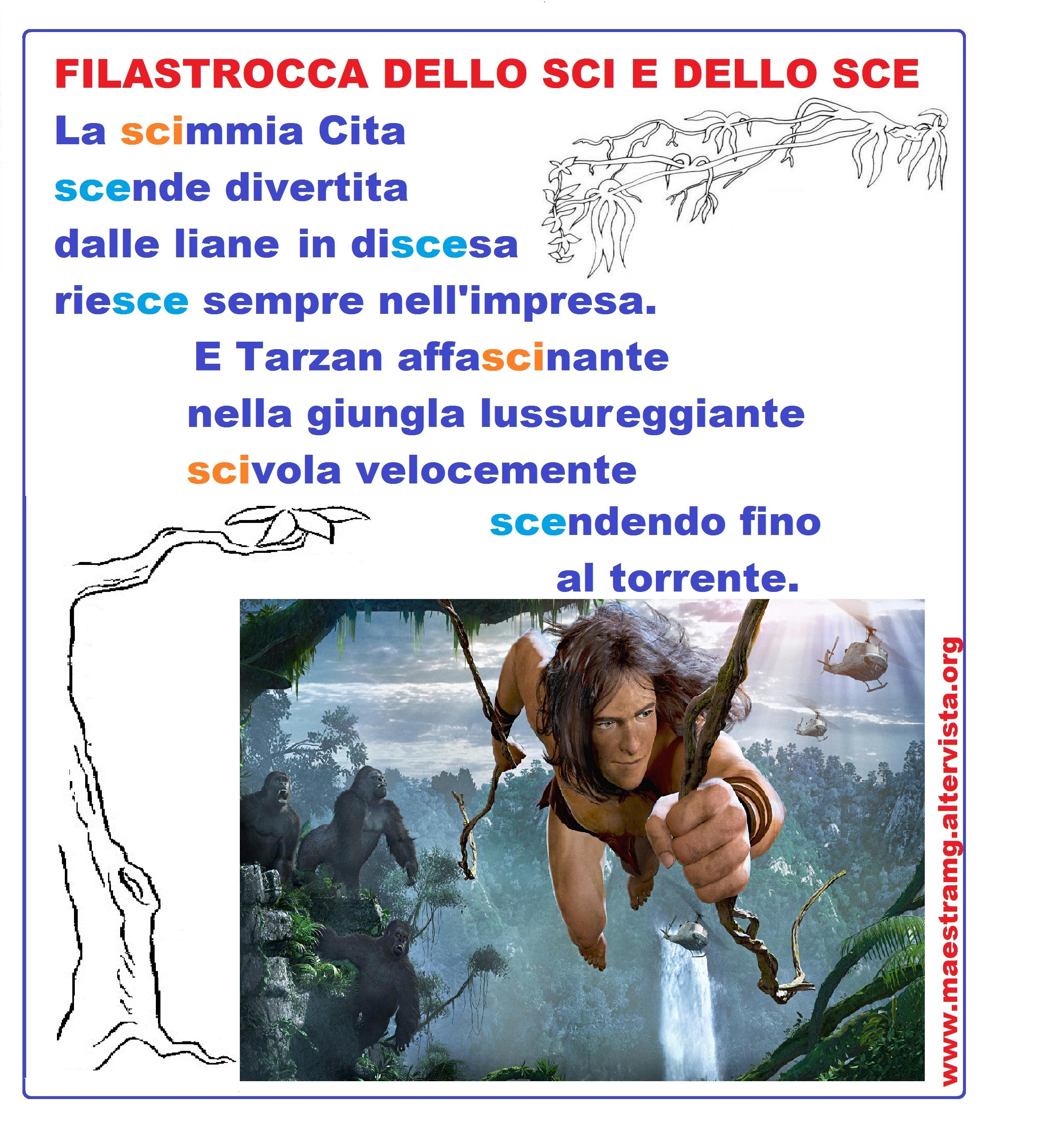 SCI SCE filastroc - Colori