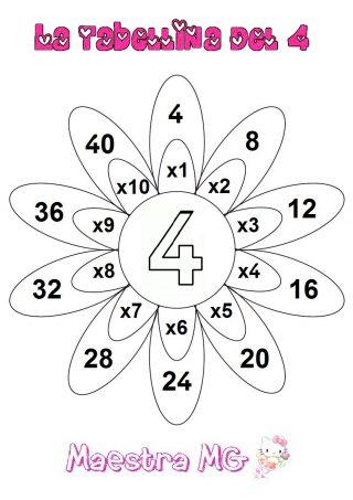 Fiore tabelline 4