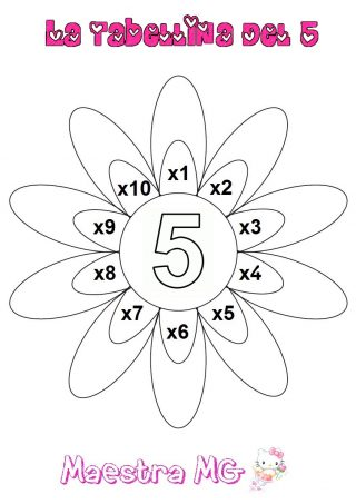 Fiore tabelline 5