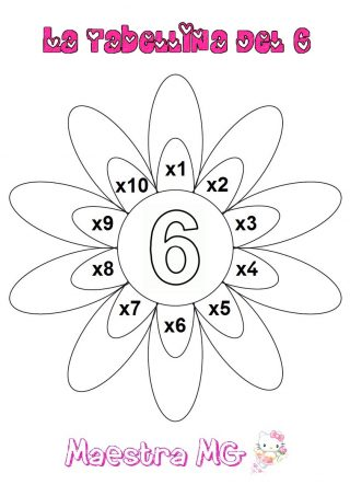 Fiore tabelline 6