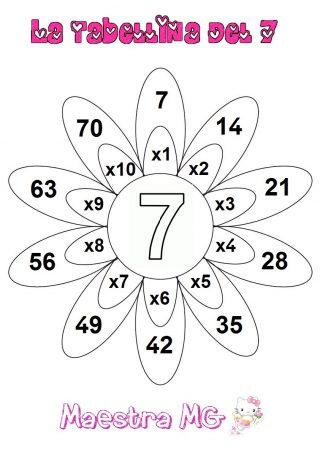 Fiore tabelline 7