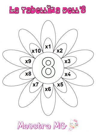 Fiore tabelline 8