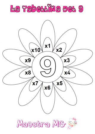 Fiore tabelline 9