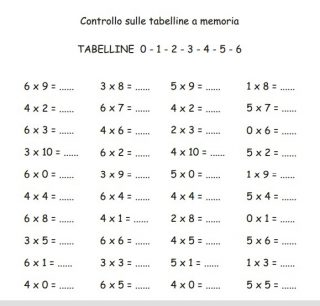 es tabelline 0-6